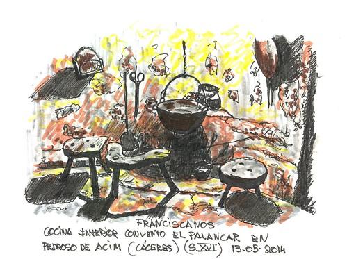 Cocina en el cenobio de El Palancar, Pedroso de Acim (Cáceres)