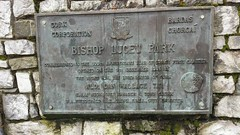 Photo of Bishop Lucey Park bronze plaque