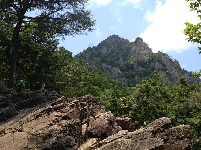 雪彦山 展望岩から大天井岳
