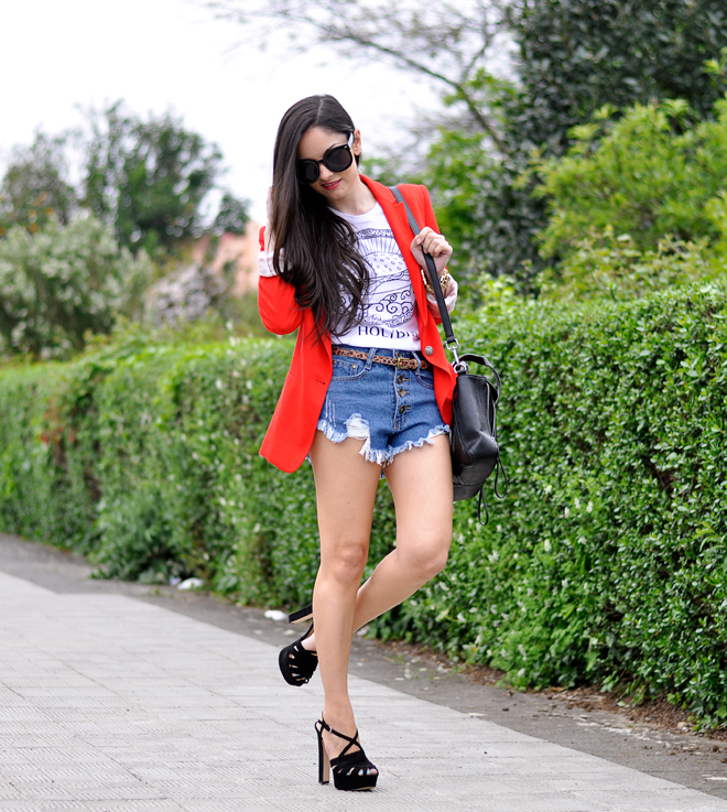 Red Zara Blazer_08