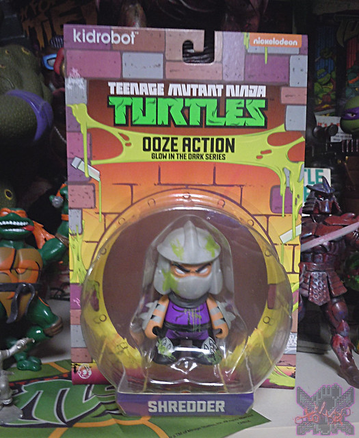 "Kidrobot :: ""TEENAGE MUTANT NINJA TURTLES"" - 'OOZE ACTION' GLOW IN THE DARK SHREDDER ii (( 2014 ))"