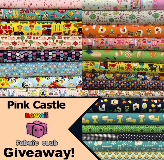 Pink Castle Kawaii Fabric Club Giveaway!!