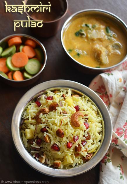 Kashmiri pulao recipe kashmiri pulao restaurant style sharmis kashmiri pulao recipe forumfinder Images
