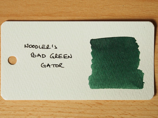 Noodler's Bad Green Gator - Ink Review - Word Card