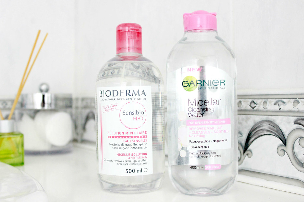 Garnier Micellar Water and Bioderma