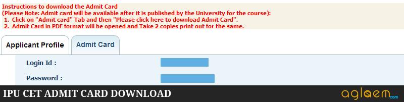 IPU CET 2015 Admit Card