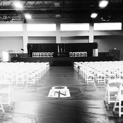 Setting up for graduation