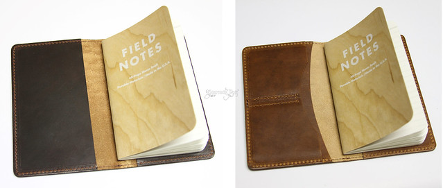Mitchell Leather Journal Covers Open