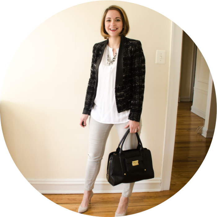 what to wear, casual friday, gray jeans, denim to work, old navy jeans