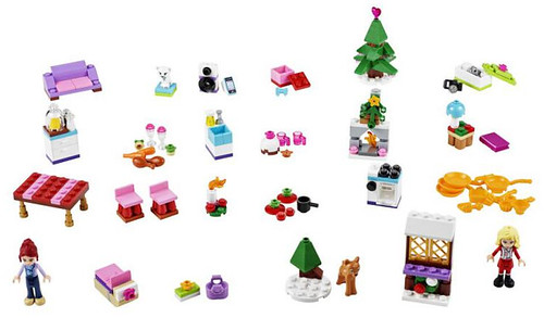 LEGO Friends Advent Calendar 2014 items #41040 built out of 228 pieces