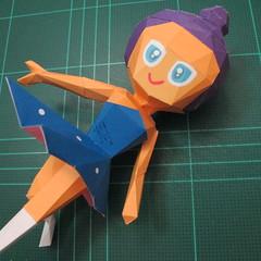 วิธีทำโมเดลกระดาษตุ้กตา คุกกี้รสราชินีสเก็ตลีลา จากเกมส์คุกกี้รัน (LINE Cookie Run Skating Queen Cookie Papercraft Model) 025
