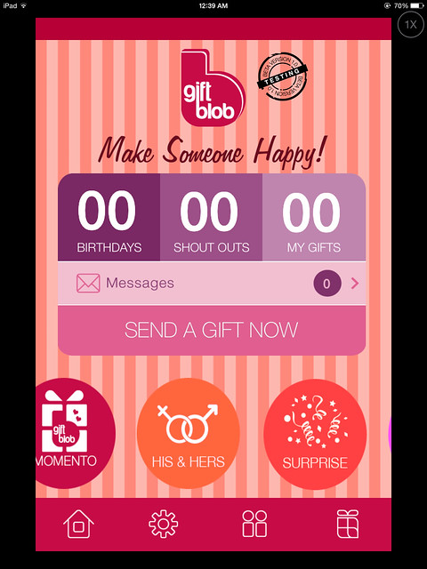 Sending gifts to your friends through online and mobile app