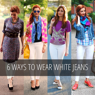 3 Ways to Wear White Jeans