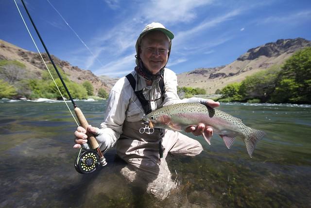 Robert Jones with a great Deschutes River Rainbow Trout