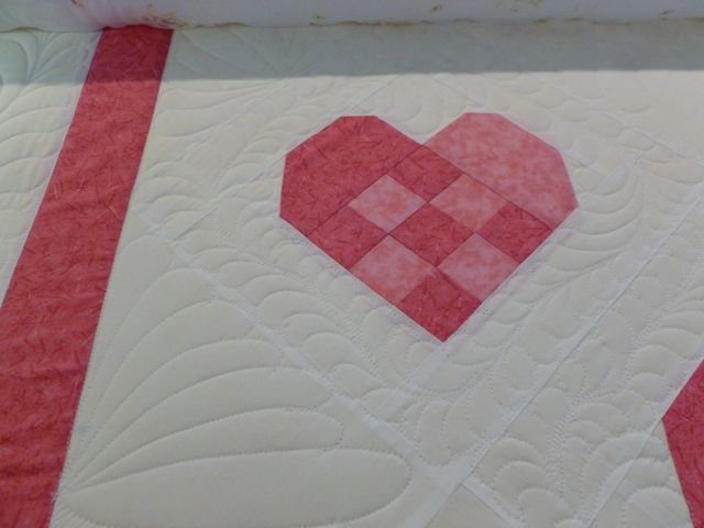 Quilted Hearts Close up