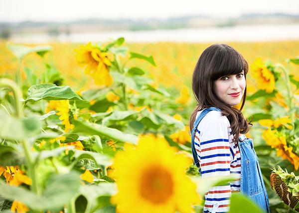 fashionpea, dungarees, denim overalls, sunflower field, בלוג אופנה, אוברול ג'ינס, שדה חמניות, דר משיח