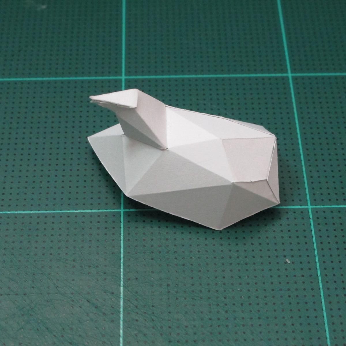 วิธีทำโมเดลกระดาษคุกกี้รสคุกกี้แอนด์ครีม  (Cookie Run Cream Cookie Papercraft Model) 003
