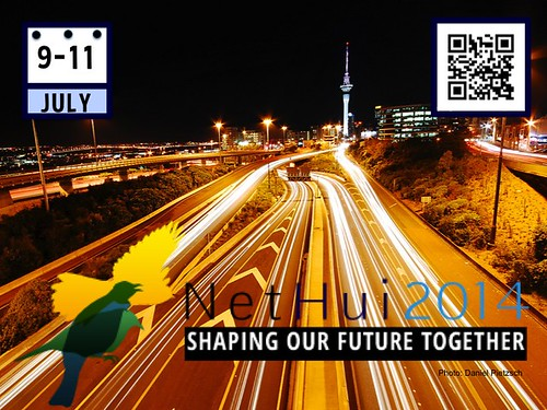 Shaping Our Future Together: #NetHui July 9-11, Auckland, New Zealand @NetHuiNZ @InternetNZ (Poster #2 with Attribution-Share Alike License Poster)