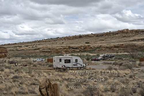 Campground at Chaco Canyon