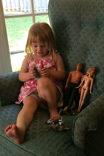 I don't know why Lucy always has to take off her dolls' clothes. Sorry about that, Anna and Kristoff.