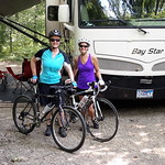 Laura & Lisa ready for our ride - it was supposed to be a 15-mile ride but it ended up at 22 miles!