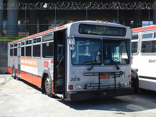 San Francisco Municipal transportation Agency 2816W SORRY NO PASSENGERS 1993 Gillig Phantom 40' Cummins ISM Voith D863.3 Woiods Yard.