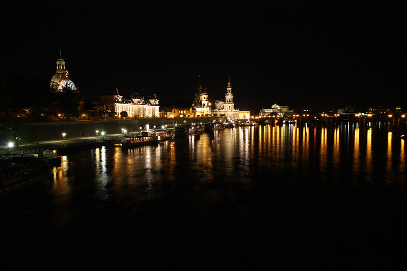 old-town dresden by night