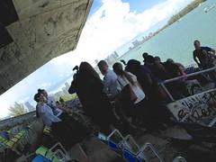 Glorida Estefan taking photos at The Marine Stadium