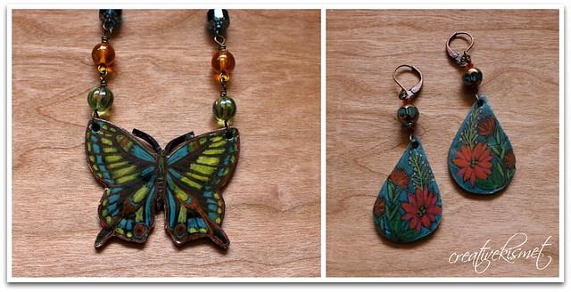 shrink plastic art jewelry by Regina Lord