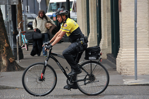 PPB Police Chief Mike Reese on bike patrol-8