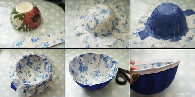 diy challenge fabric bowls