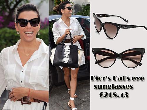 Dior's Cat's eye sunglasses