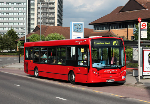 Rare Working: Route H91, London United, DLE16, SN60EBX