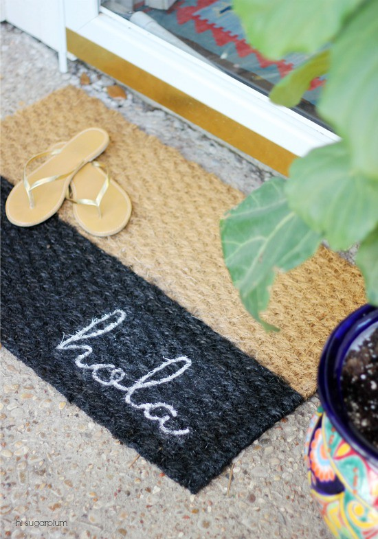 Hi Sugarplum | Colorblocked Doormat