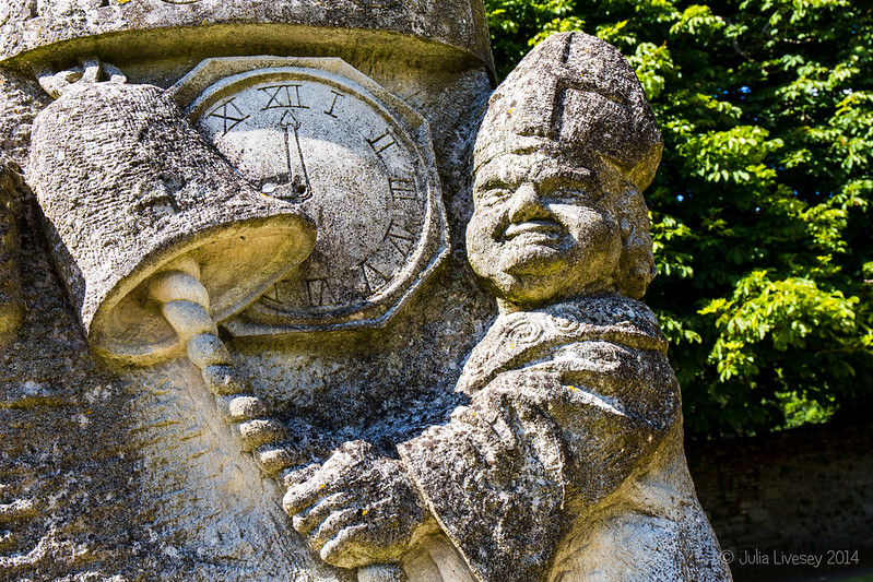 Vicar of Christchurch rining bell (detail from sculpture by Jonathan Sells)