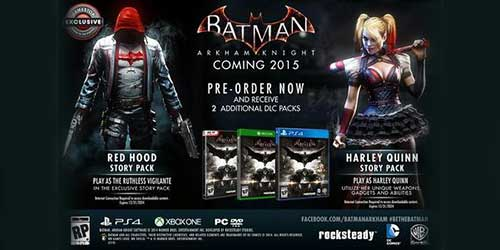Batman Arkham Knight Red Hood DLC confirmed by Sony