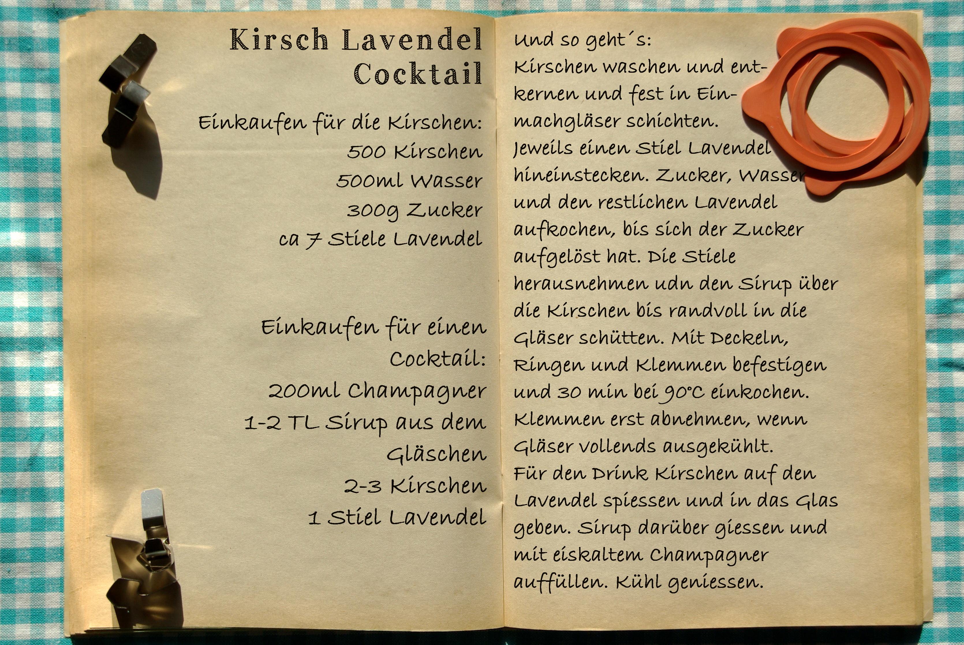 Einkaufszettel Kirschlavendel Cocktail by Glasgefluester