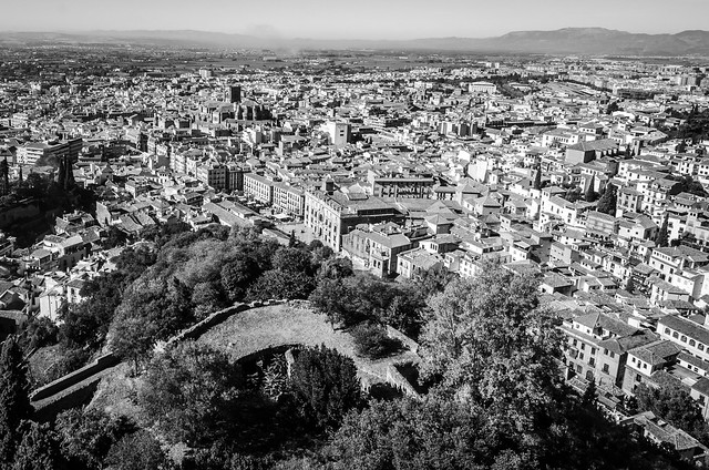 The Alhambra's Alcazaba Fortress offers priceless views of the city of Granada.