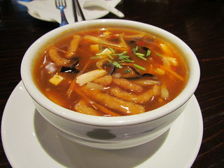 Hot and Sour Soup at Panz Veggie