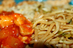 Sweet and sour chicken,Egg fried rice,noodles,spri…