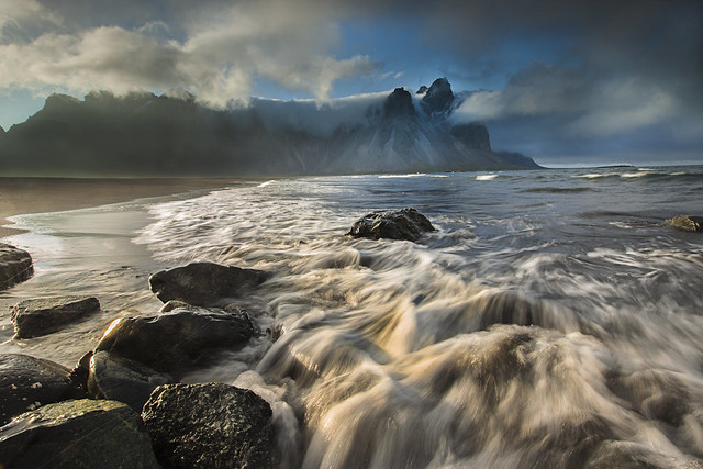 Storm approching at Stokksnes - Iceland