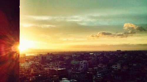 sunset cityscapes dhaka bangladesh cityview