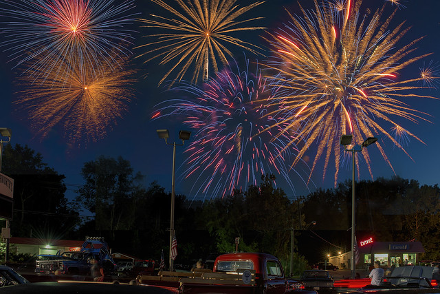 Car Cruise and Fireworks