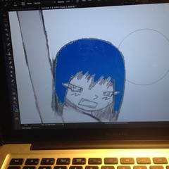 Stage 1: Outline & Preparation (COMPLETE) Stage 2: Basic Coloring and Line Correction #photoshop #adobe #digitalimaging #sketch #anime #otaku #freetime #drawing