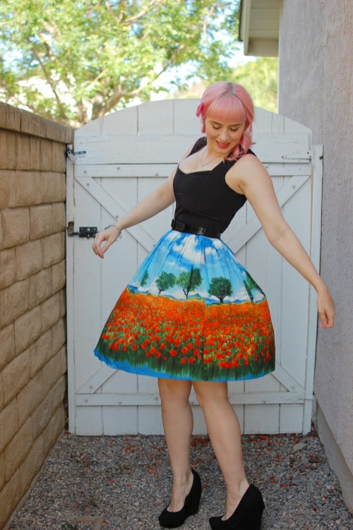 Bernie Dexter Sugardoll dress in poppy field print