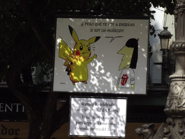 Plaza de Bib-Rambla, Granada - full sized postcards - Pikachu