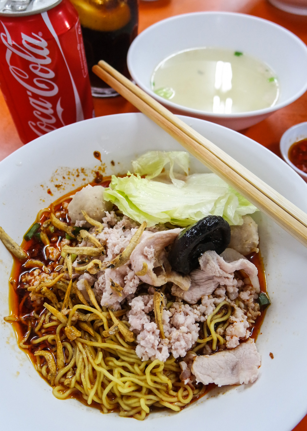 local food with Coke: Yan Kee Noodle House