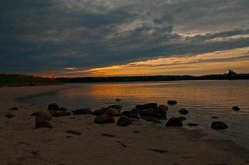sunset clouds cloudy maine newengland wells drakesisland wellsme webhannetriver