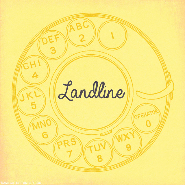 Cover art for my Landline fanmix