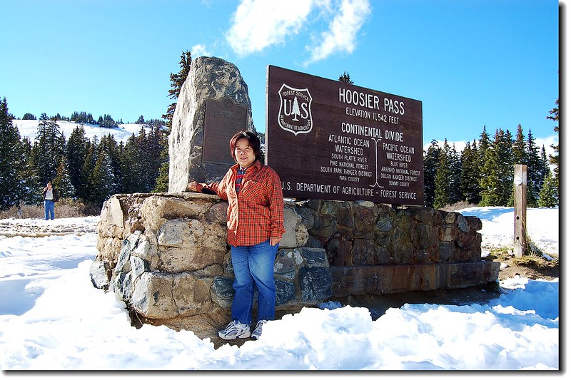 The summit of Hoosier Pass and the Continental Divide 2